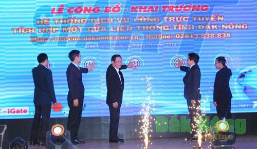 Đắk Nông: Khai trương hệ thống dịch vụ công trực tuyến